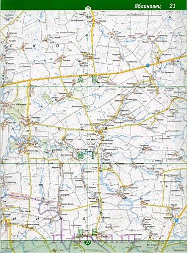 Липецкой области Карта