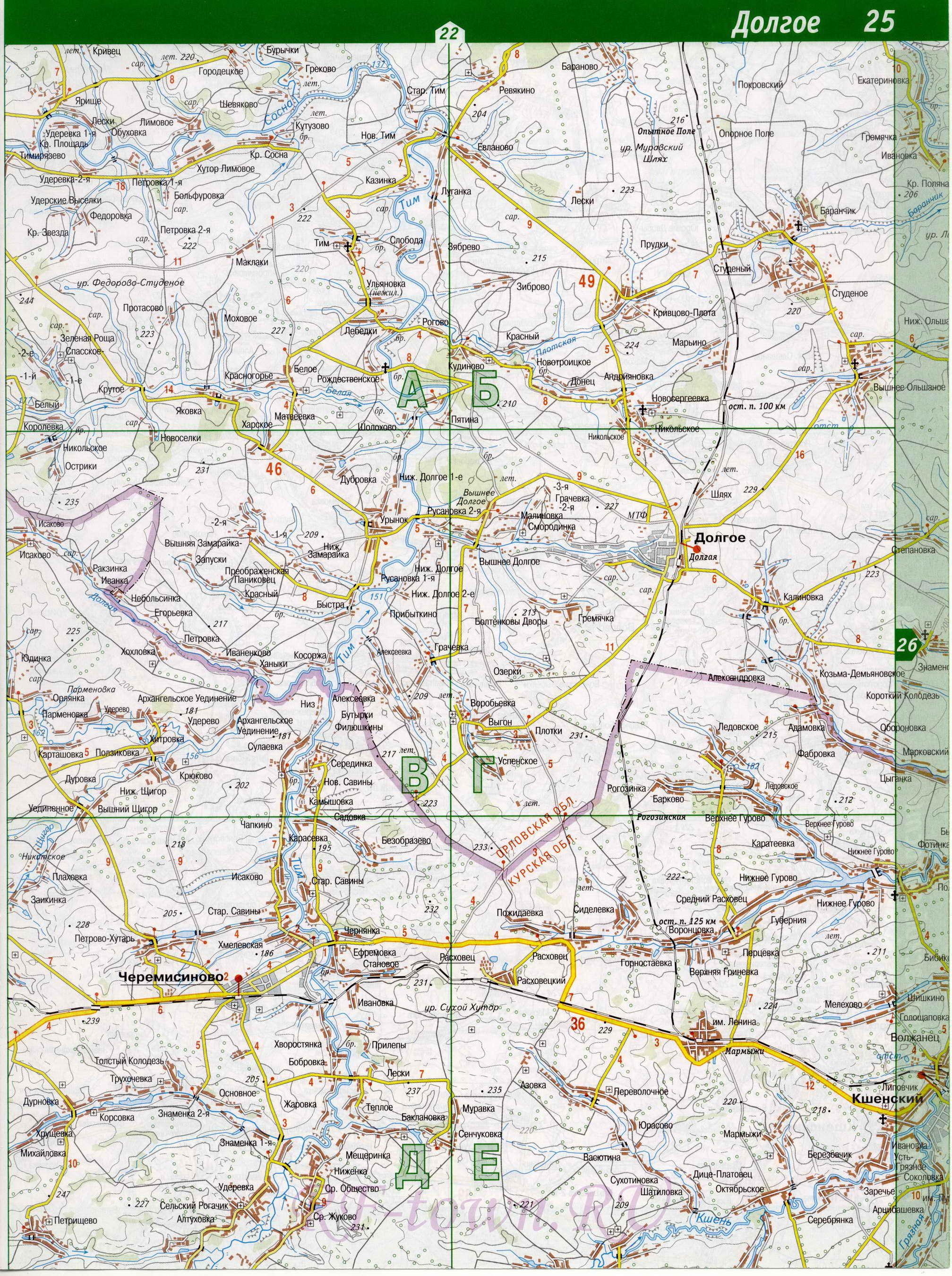 Должанский район. Карта Должанского района Орловской ...: http://rf-town.ru/map1061191_0_0.htm