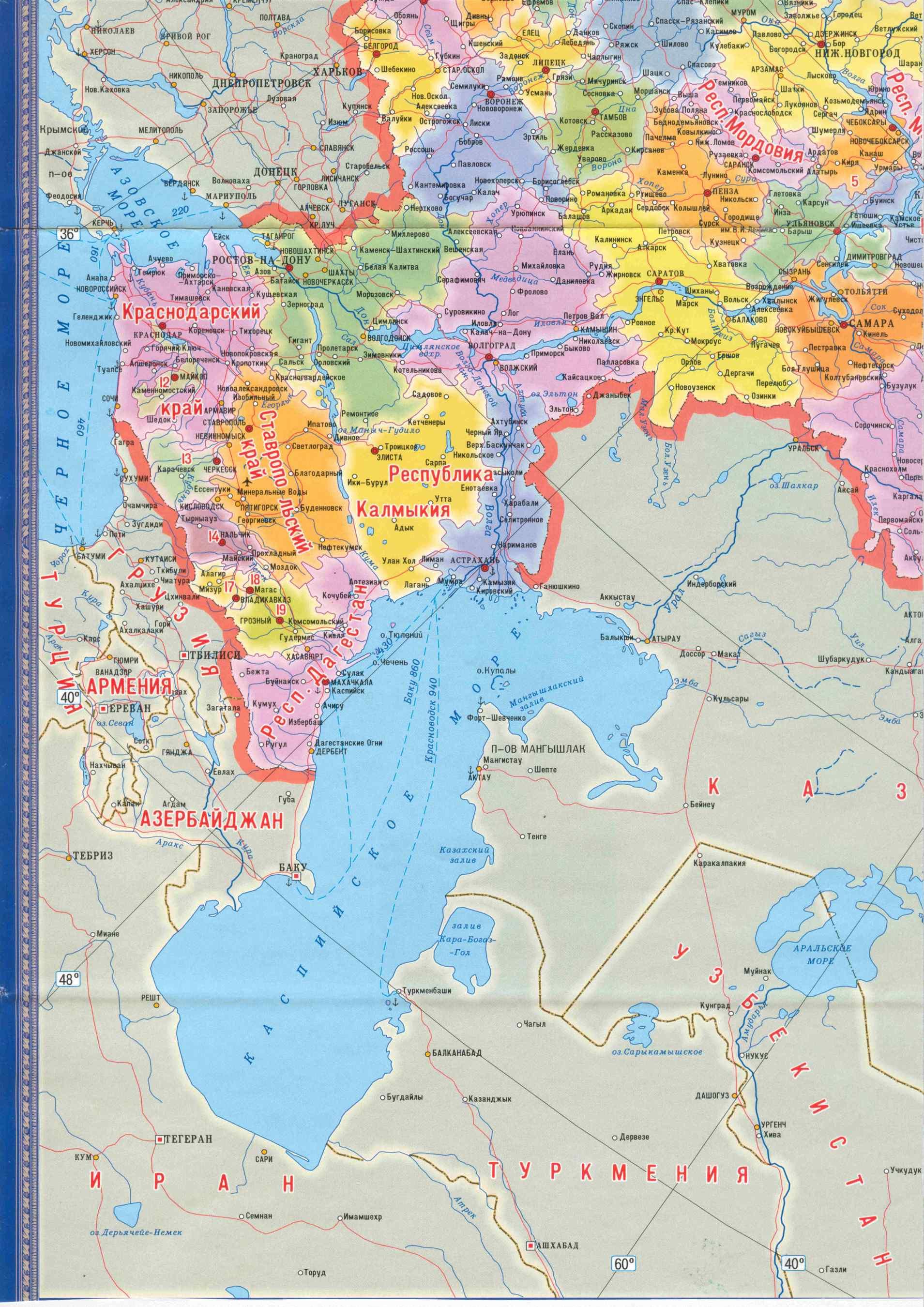 Karta Rossii S Oblastyami Bolshaya Podrobnaya Karta Rossii Karta