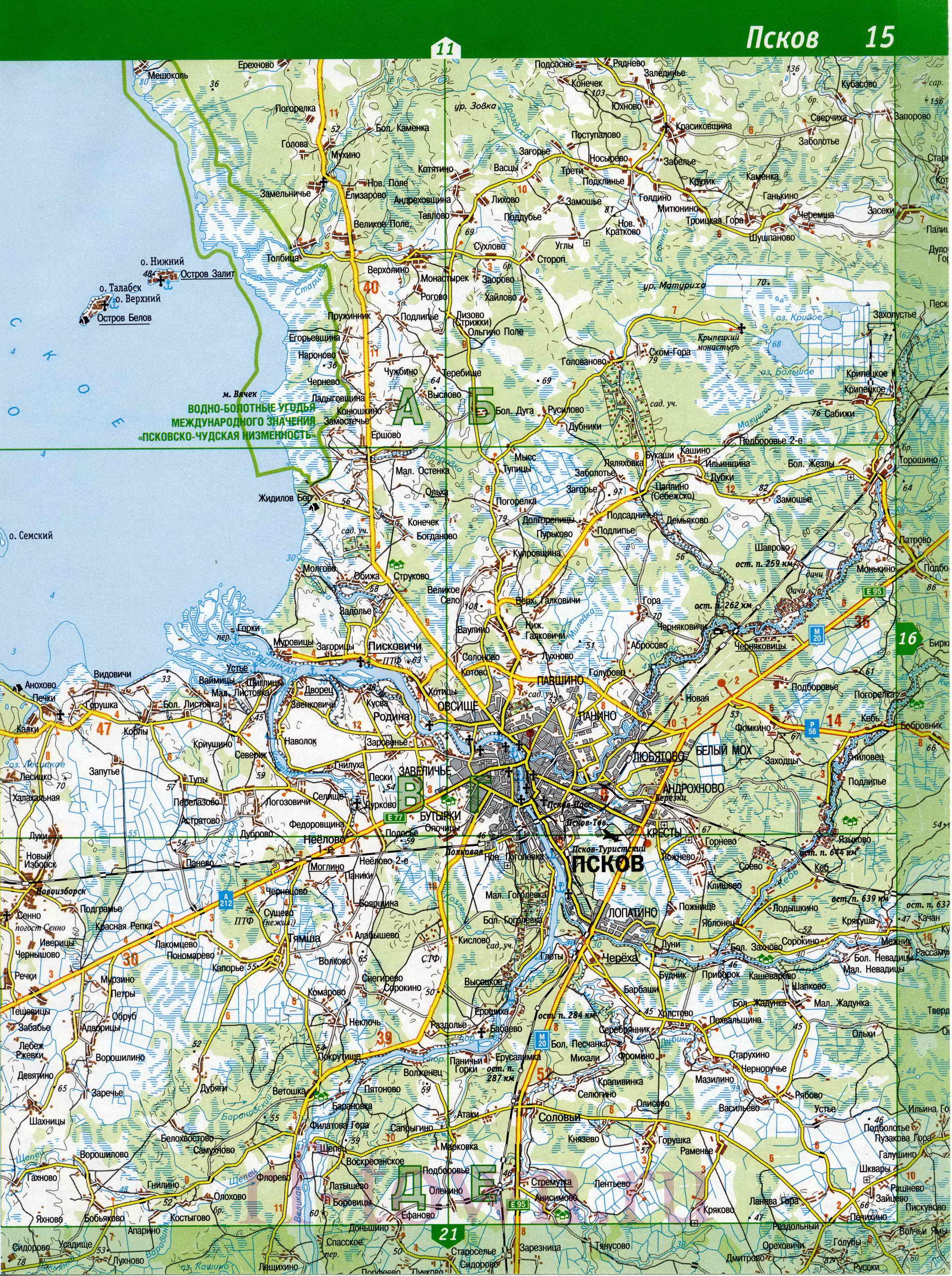 Топографическая Карта Печорский Район