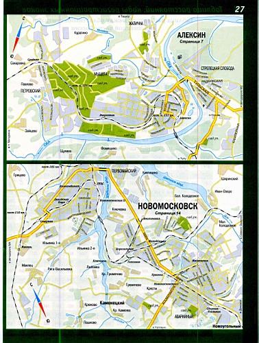 карта города Алексин