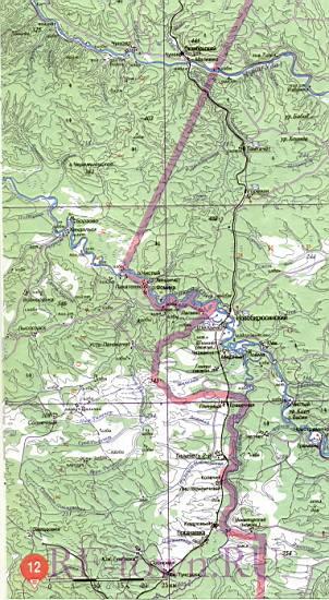 Карта Тайшетского района топографическая. Детальная карта ...: http://rf-town.ru/1221058.html