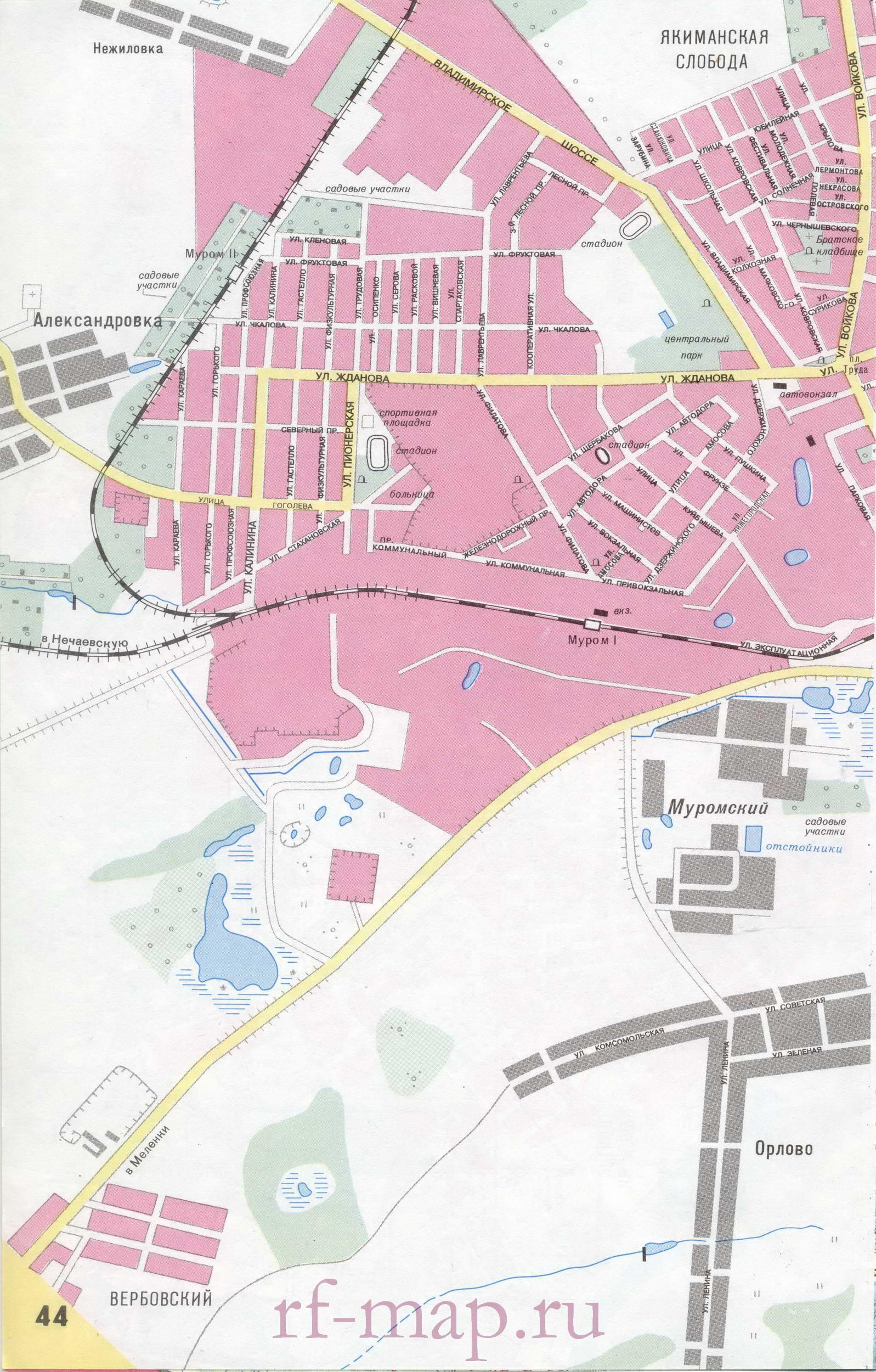 Карта города подробная карта мурома