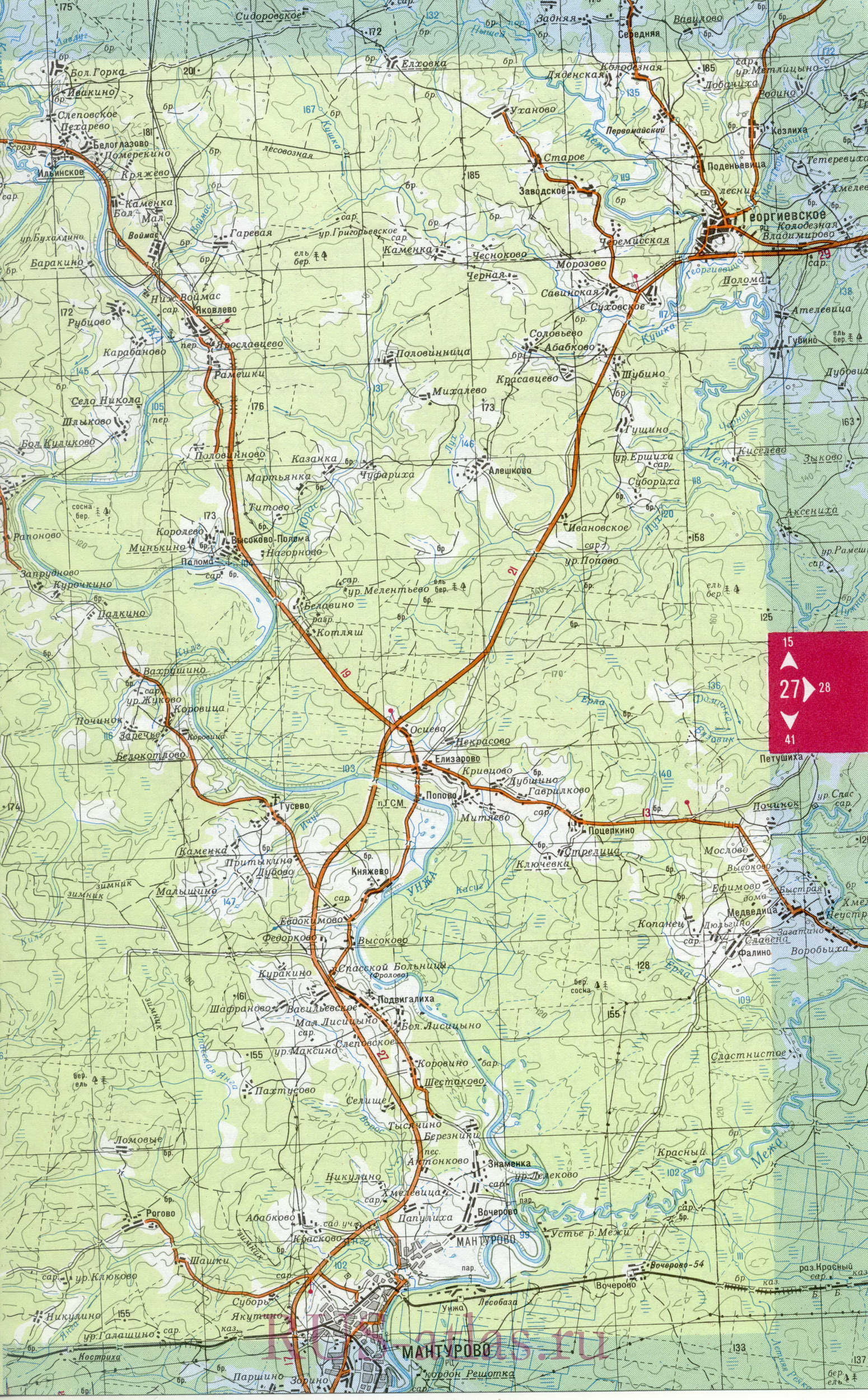 Карта Межевского района. Детальная крупномасштабная карта ...: http://rf-town.ru/map1374272_1_0.htm