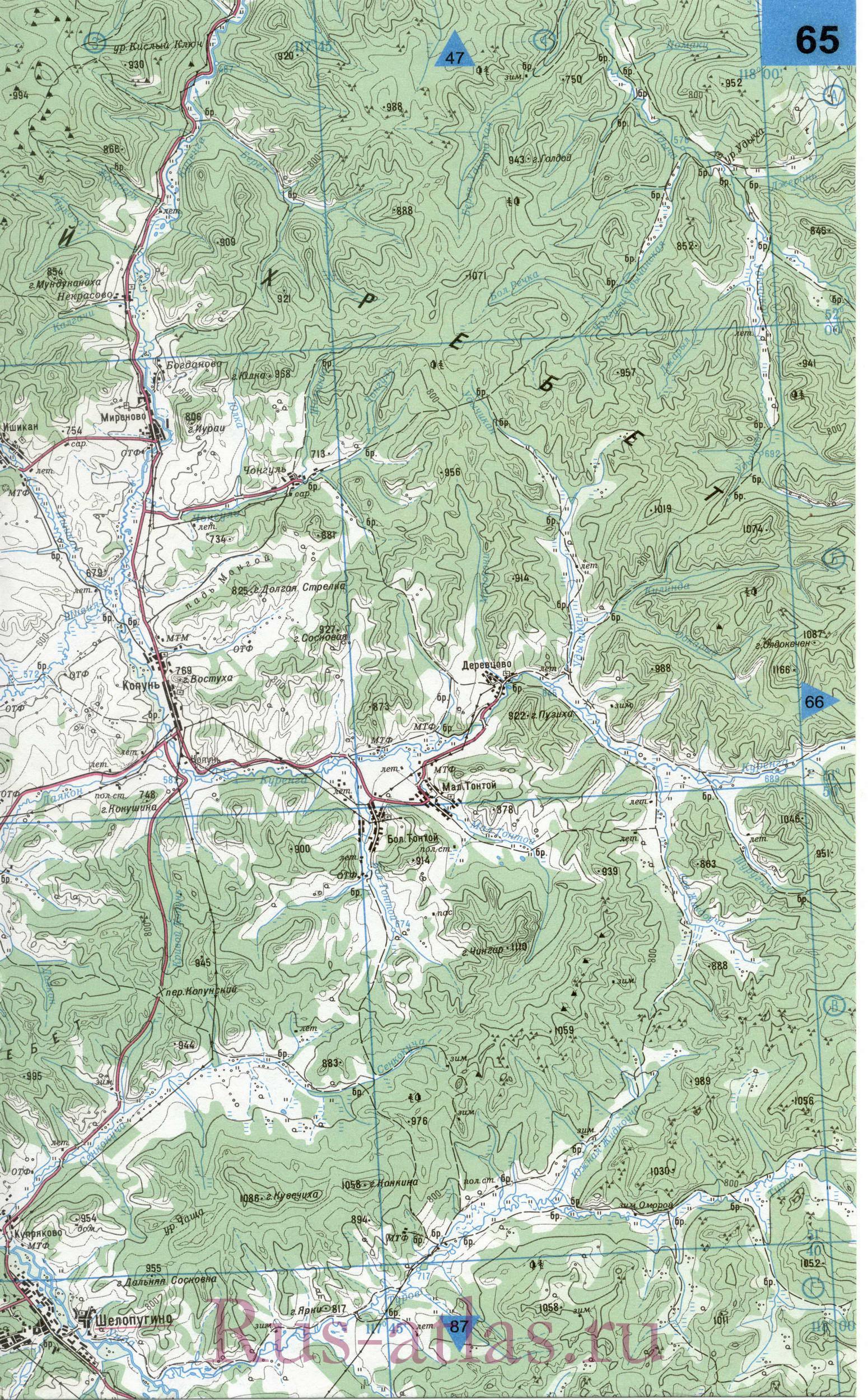 Карта Шелопугинского Района