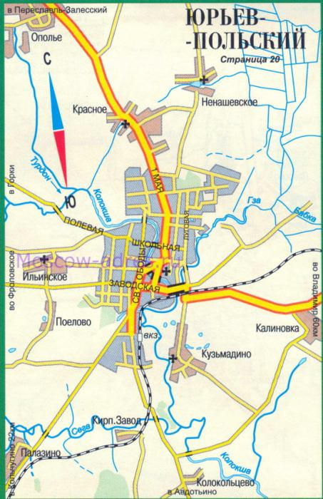 Карта Юрьева-Польского.