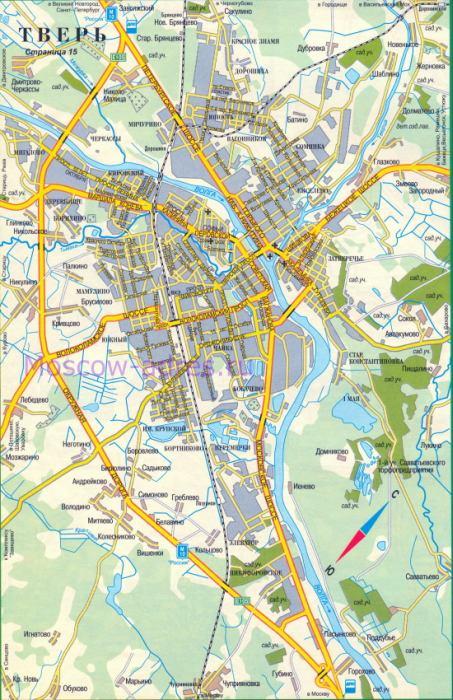 Карта Твери. Автомобильная