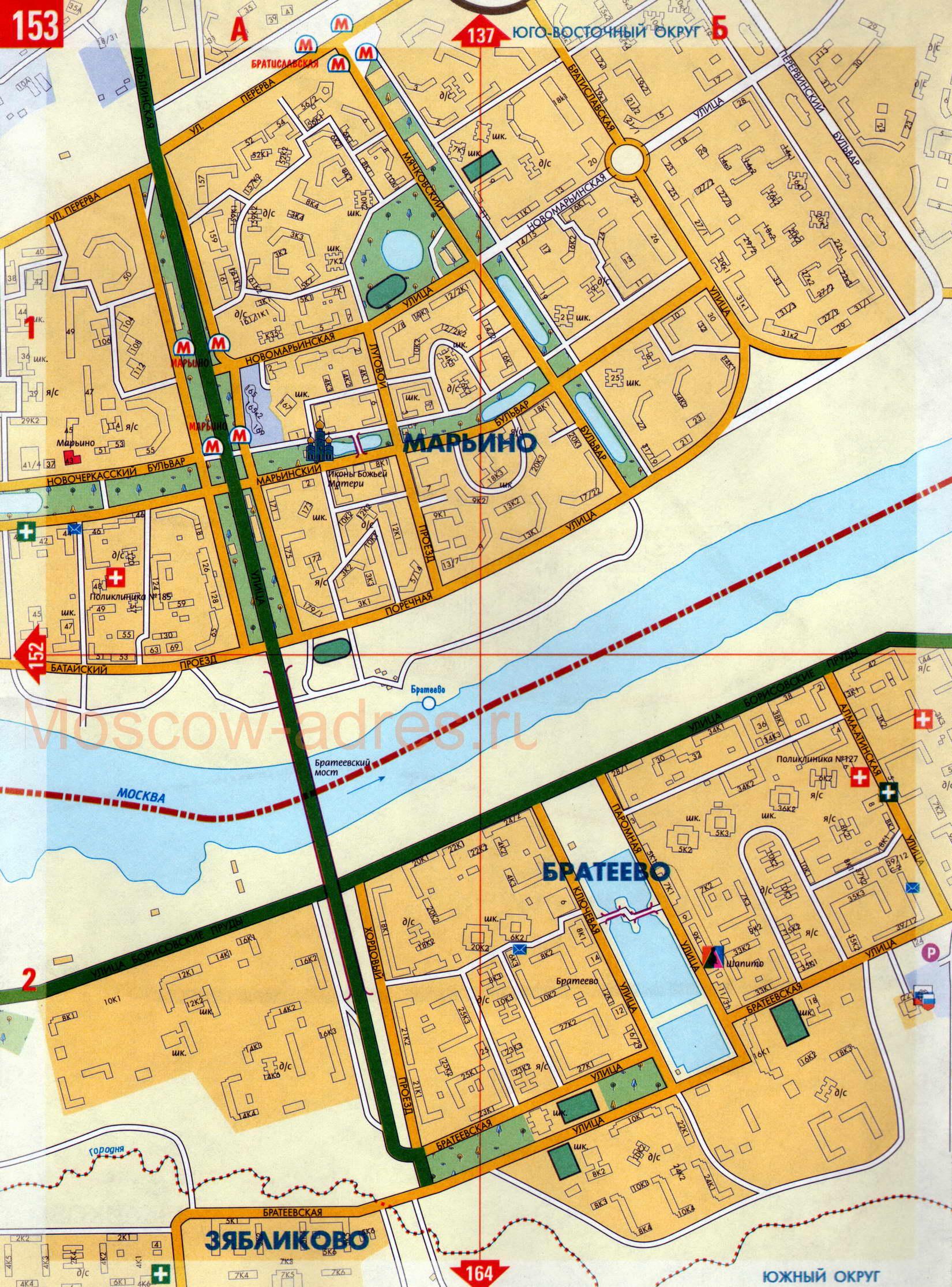Схема западного административного округа