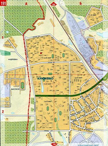 Карта зеленоградского ао москвы