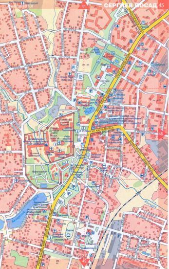 Карта Сергиева Посада.