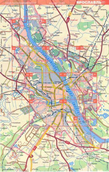 Карта Ярославля. Автомобильная