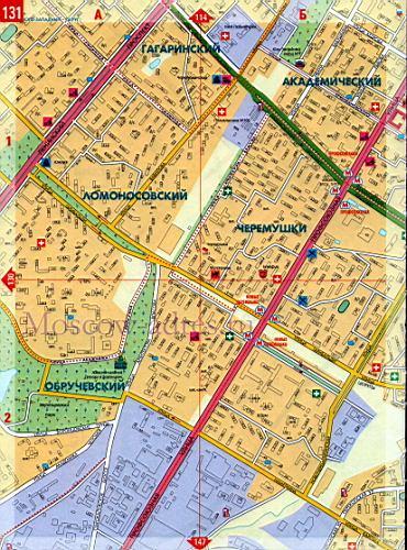 вакансии юзао на карте москвы