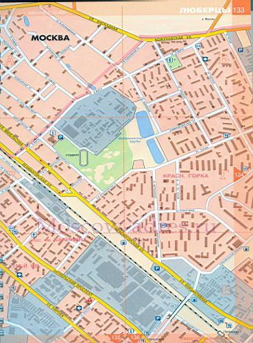 Карта Люберцы. Подробная карта