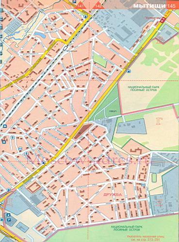 Карта Мытищи. Подробная карта