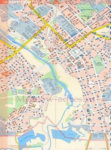 Карта Серпухова. Подробная