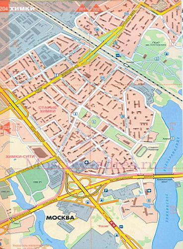 Карта химок схема проезда