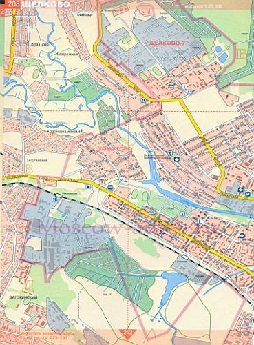 Карта Щелково. Подробная карта