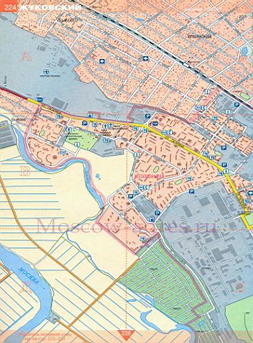 Карта улиц Жуковский 1см:200м