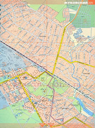 Карта Жуковского. Подробная