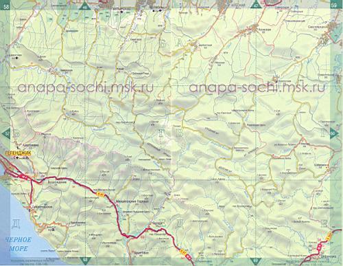 Подробная Карта Тихорецкого Района