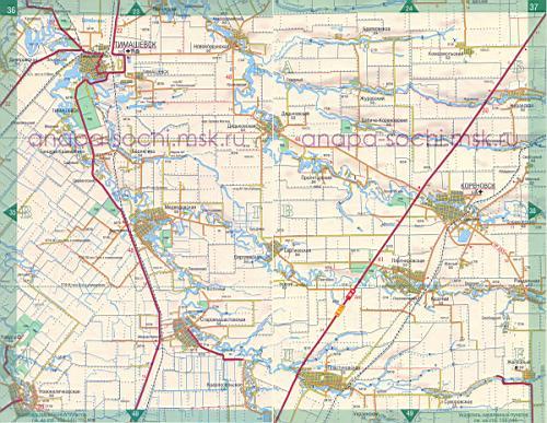 Краснодарского края карта автодорог