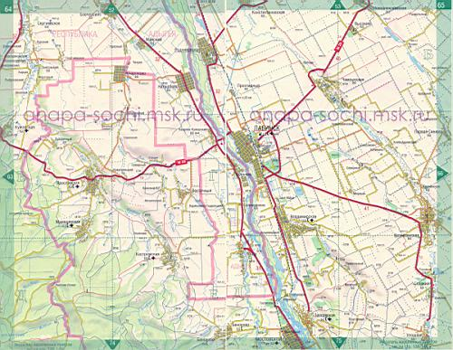 Кошехабльский Район Карта