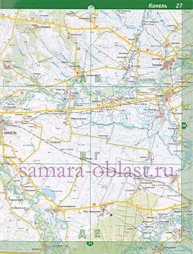 Кинельский район. Карта