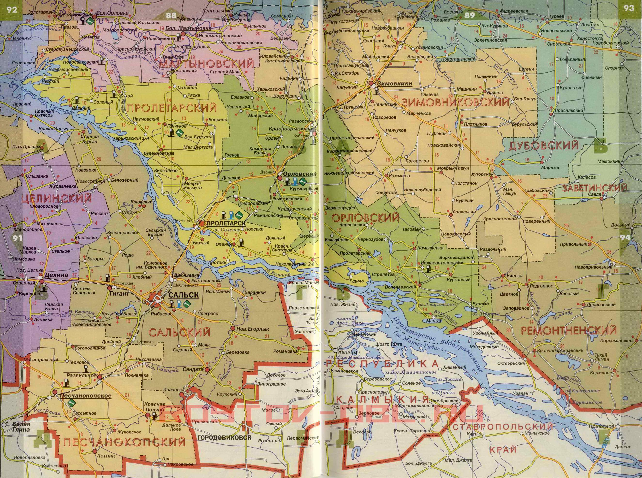 Ростовская область. Карта Ростовской области. Большая ...: http://rf-town.ru/map979065_1_1.htm