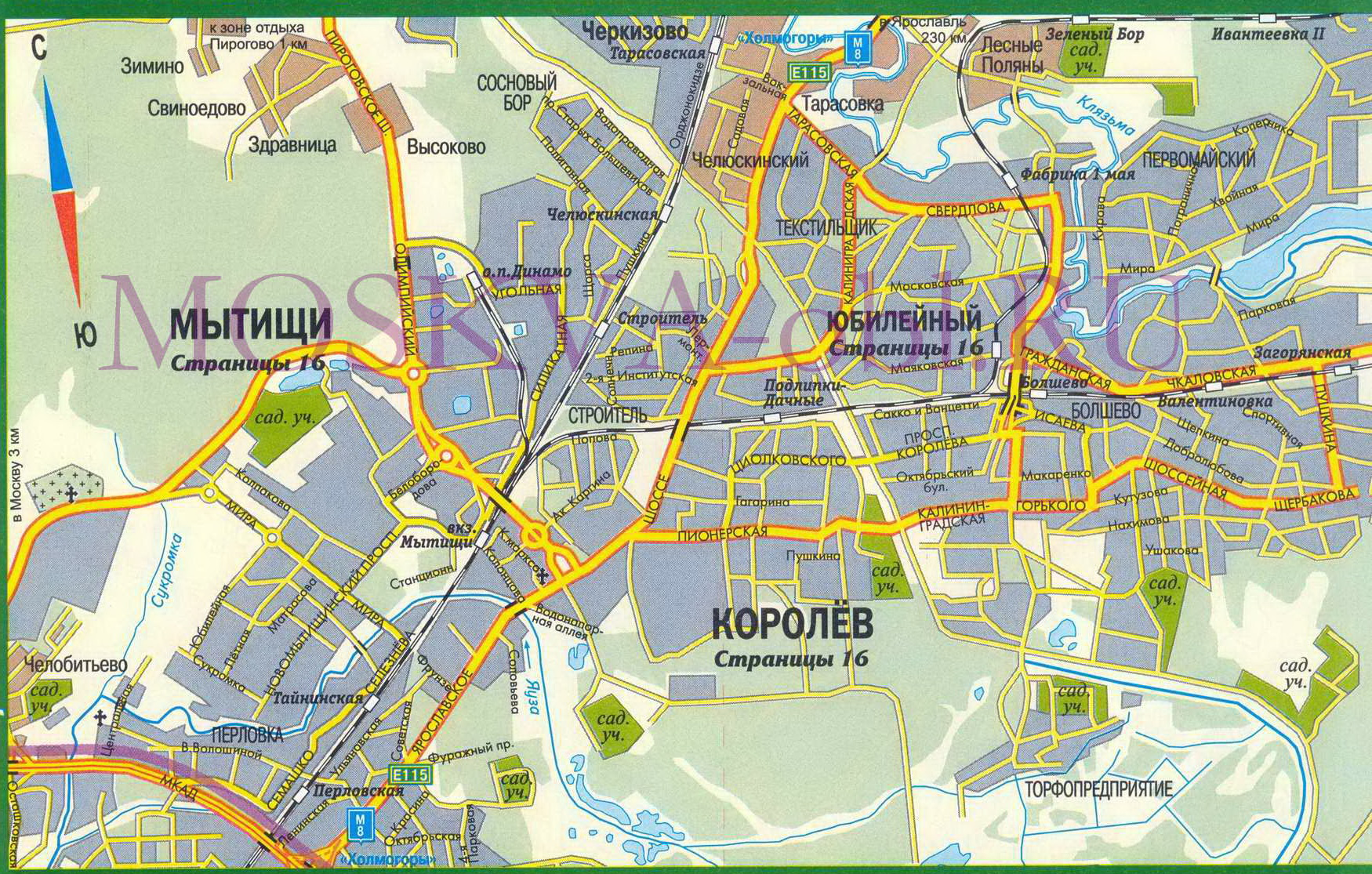 Карта г. Чехова Московской области, карта чеховского ...