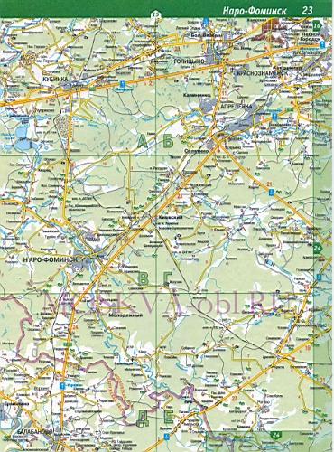 Карта Наро-Фоминского района