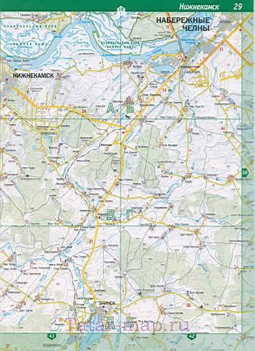 Подробная карта Нижнекамского