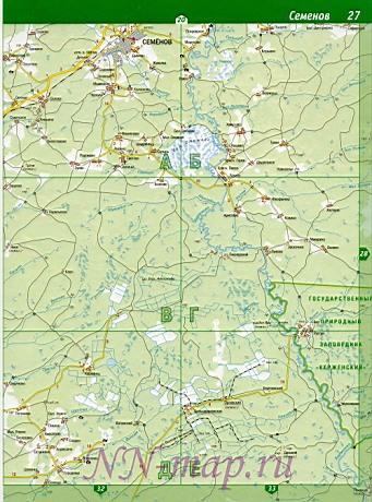 Карта борский район нижегородской