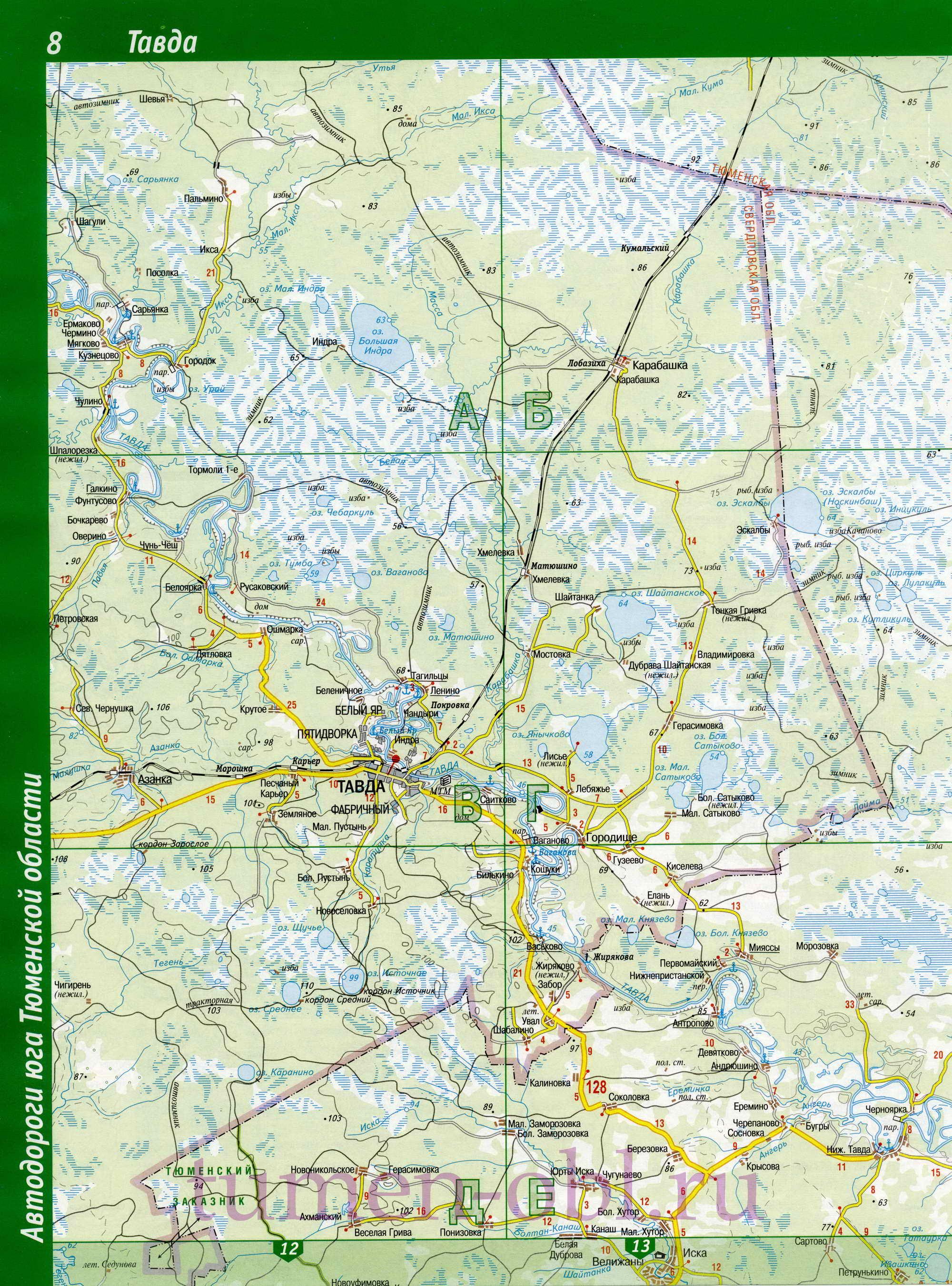 Карта озеро онохино упоровского района