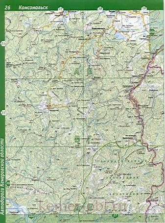 Карта Тисульского района