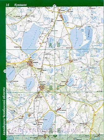 Карта Красноармейского района челябинской области.  Подробная карта автомобильных дорог - Красноармейский р-он.