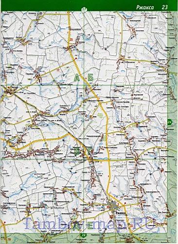 Карта Сампурского района