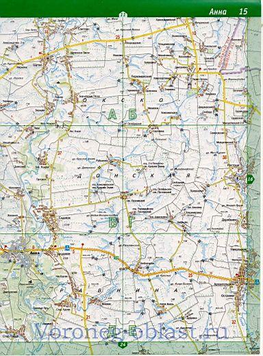 Карта Аннинского района
