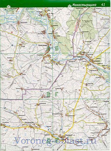 Карта воронежа скачать