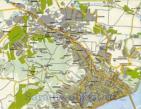 карта саратова по районам